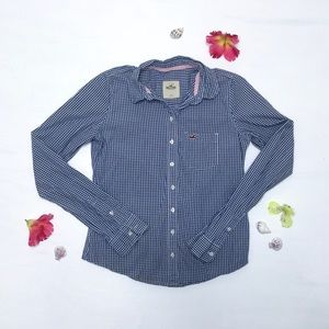 Hollister - Plaid, Long Sleeved, Button Down